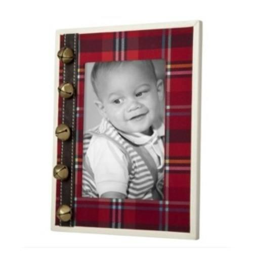 red plaid photo frame