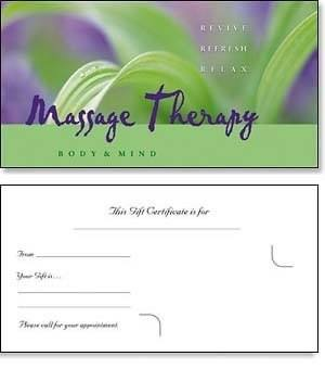 gift certificate for messages