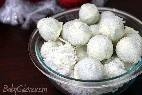 Oreosnowballs6 Oreo Truffle Snowballs