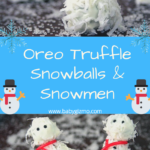 Oreo Truffle Snowmen