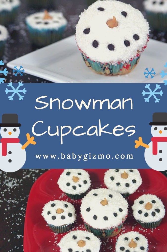 How to Make Snowman Cupcakes – Baby Gizmo