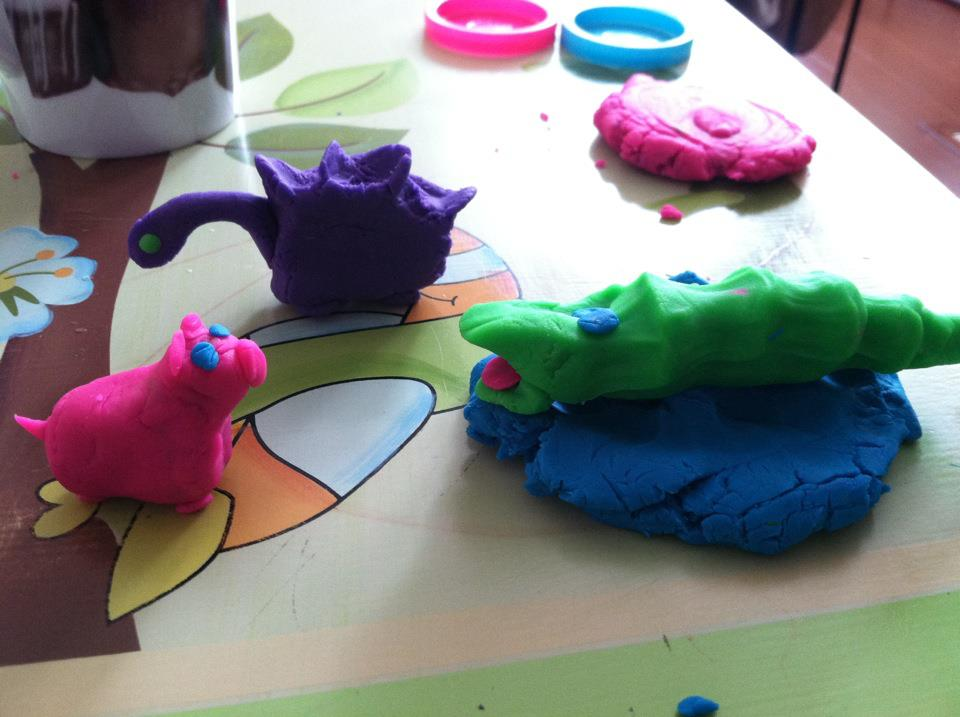 playdough and toys