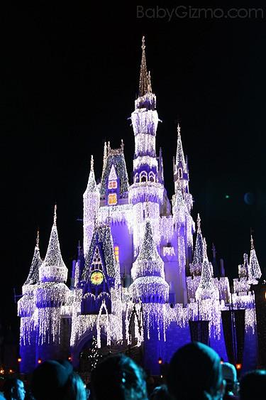Cinderella Castle with lights
