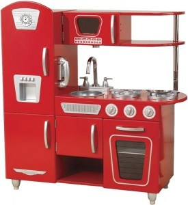 red retro kitchen from kidcraft 275x300 Things To Do With A Toddler While Nursing A Newborn
