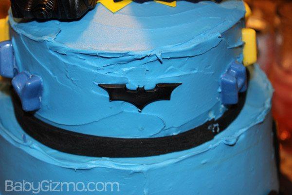 Batman decoration on a batman cake