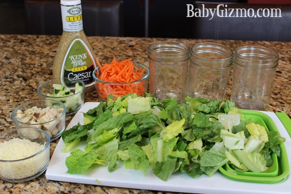 Caesar Salad in a Jar