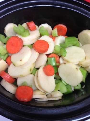vegetables in a crockpot