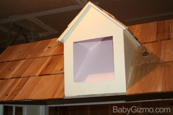 Playhouse bed window