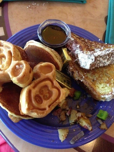 disney breakfast waffles and french toast