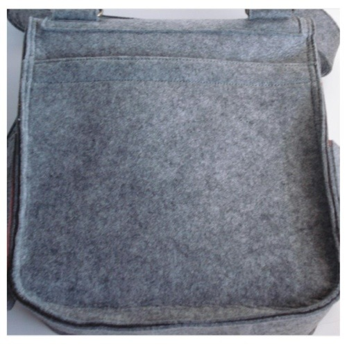 grey messenger diaper bag