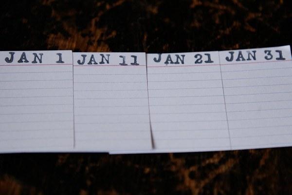 journal dates