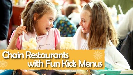 Chain Restaurants with Fun Kids' Menus