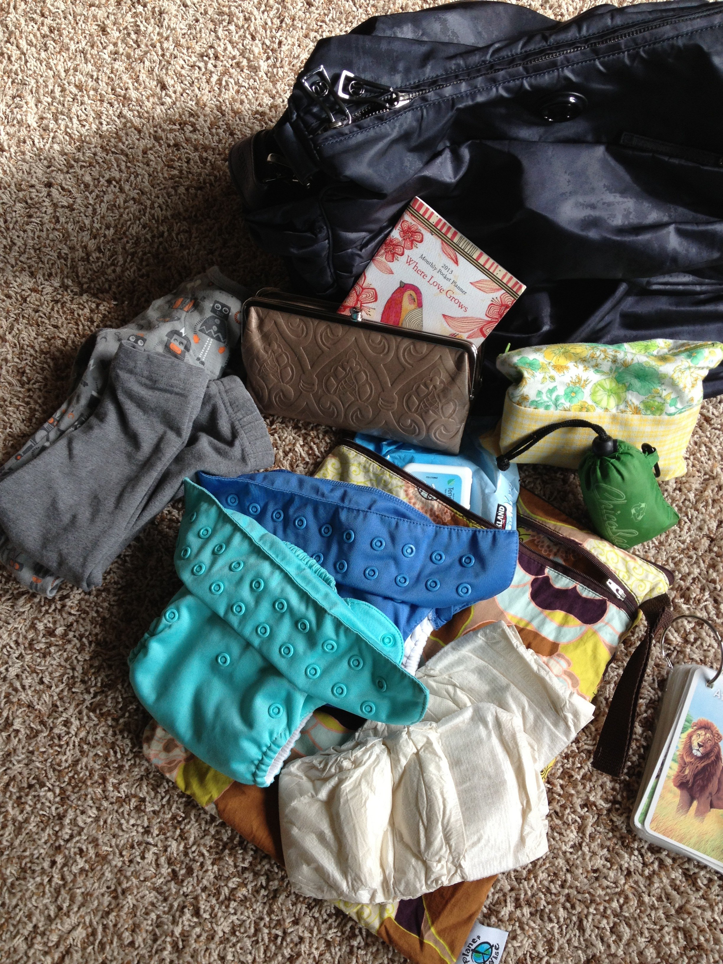 diaper bag contents
