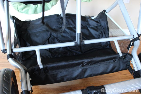 strollair basket Baby Gizmo Spotlight Review: StrollAir My Duo 2013 Stroller (+Giveaway)