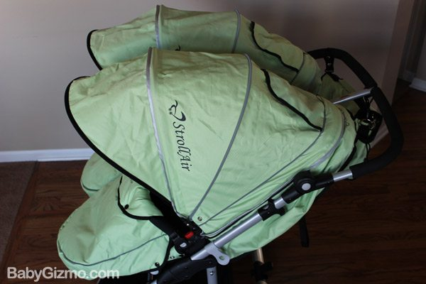 strollair canopy Baby Gizmo Spotlight Review: StrollAir My Duo 2013 Stroller (+Giveaway)