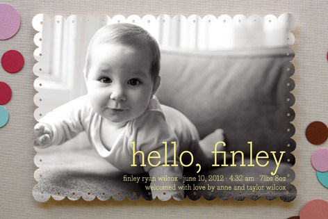 cute baby crawling announcement