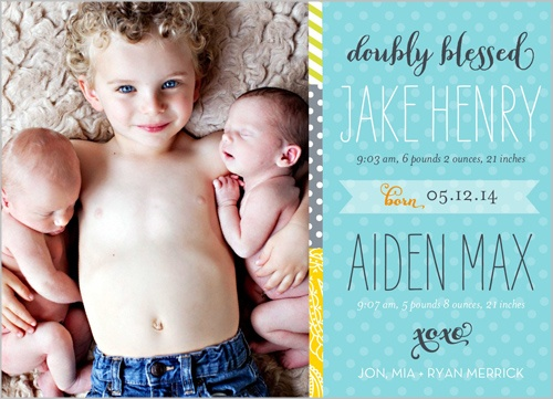 twins birth announcement