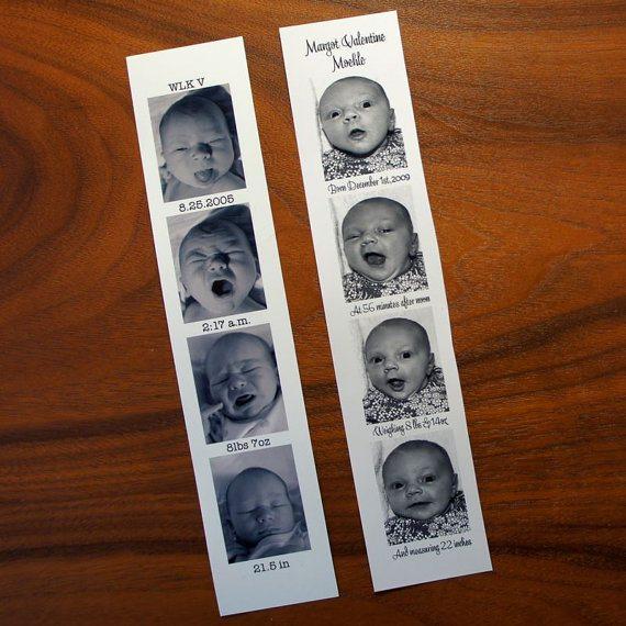 photo strip birth announcement
