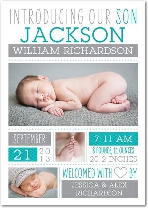 multiple photo birth announcement