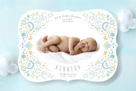 baby sleeping birth announcement