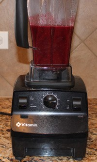 Vitamix with blended fruit