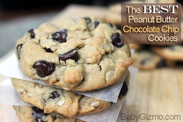 The Best Peanut Butter Chocolate Chip Cookies in the World