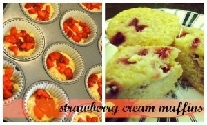 strawberry cream muffins 600w