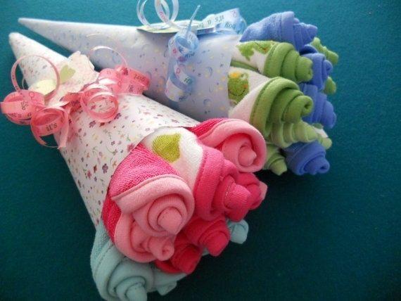 baby towels to look like flowers