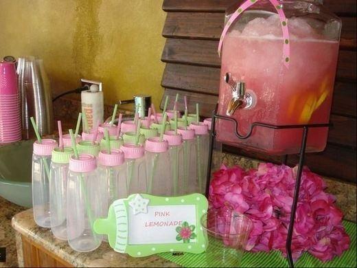 drinks in baby bottles for baby shower