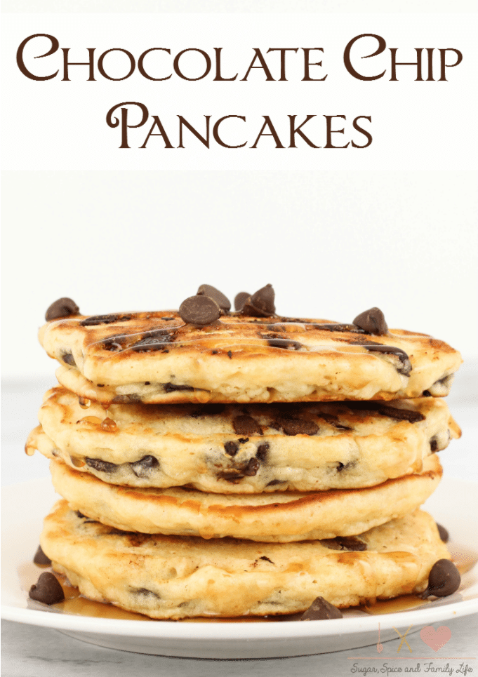 stack of chocolate chip pancakes