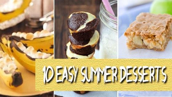 10 Easy Summer Dessert Ideas
