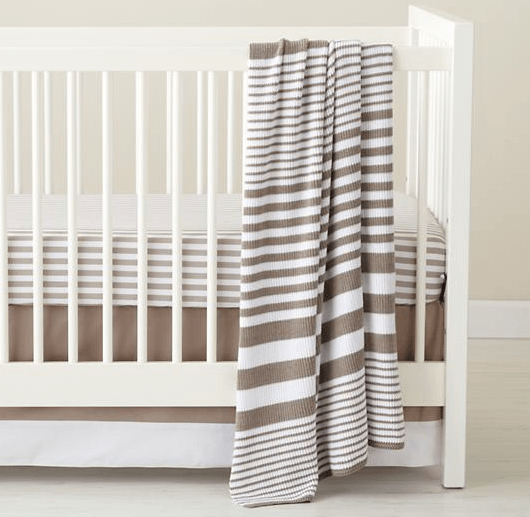 stripes crib bedding