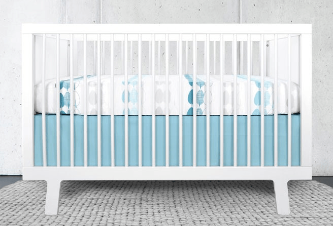 teal crib set