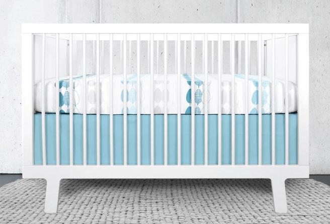 teal crib set