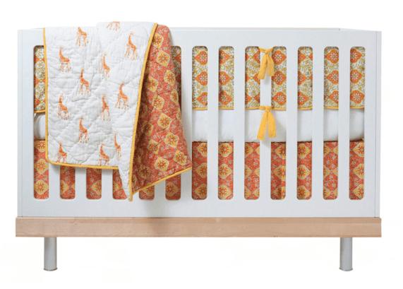 giraffes crib bedding