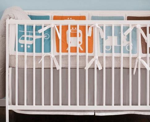 transportation crib bedding