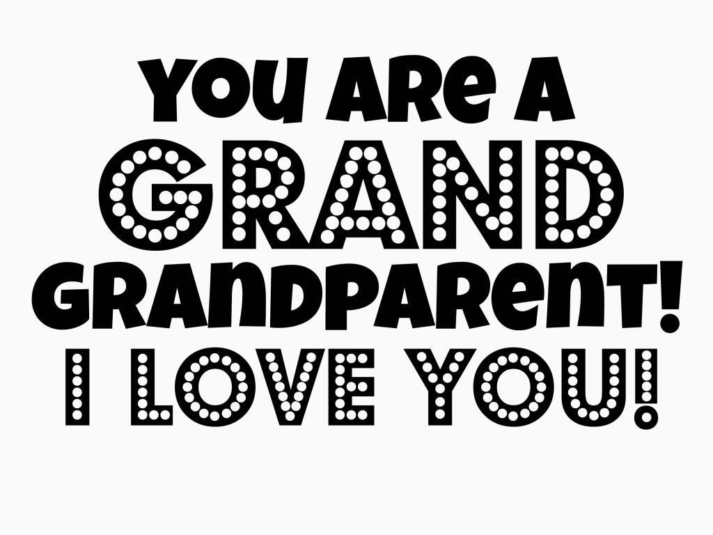 grandparent coloring
