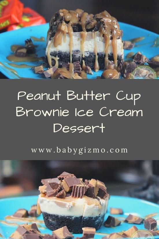 peanut butter cup brownie ice cream dessert