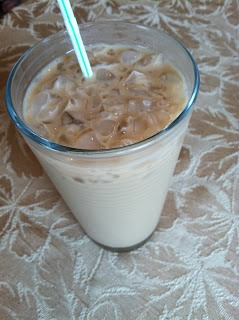 DIY Iced vanilla latte