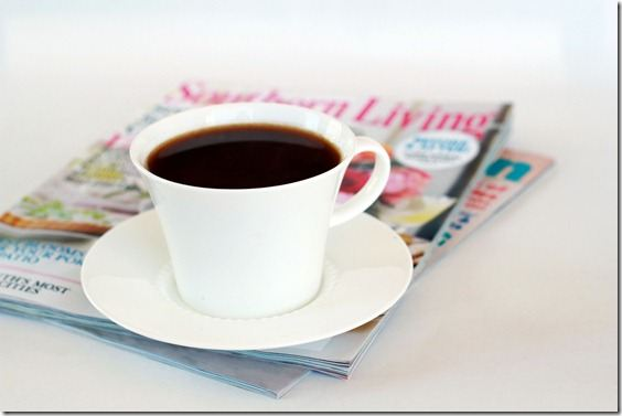 photo of coffee on magazines