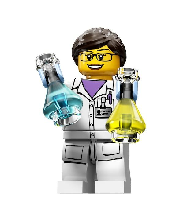New LEGO Female Scientist Minifigure