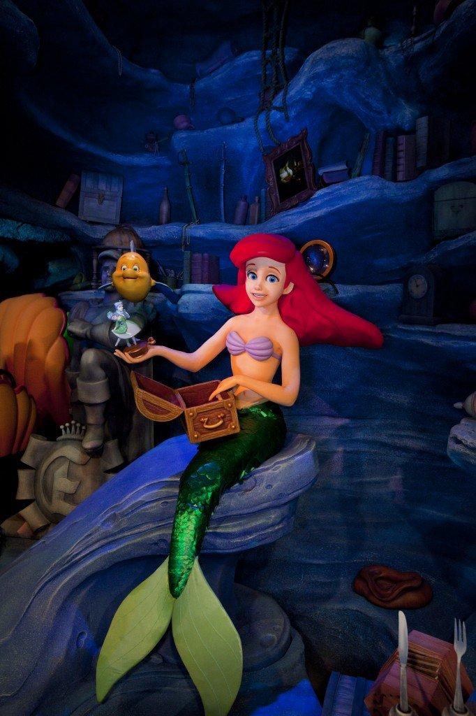 The Little Mermaid ~ ArielÕs Undersea Adventure, Ariel's underwater Grotto scene.