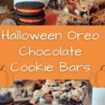 Halloween Oreo Chocolate Cookie Bars