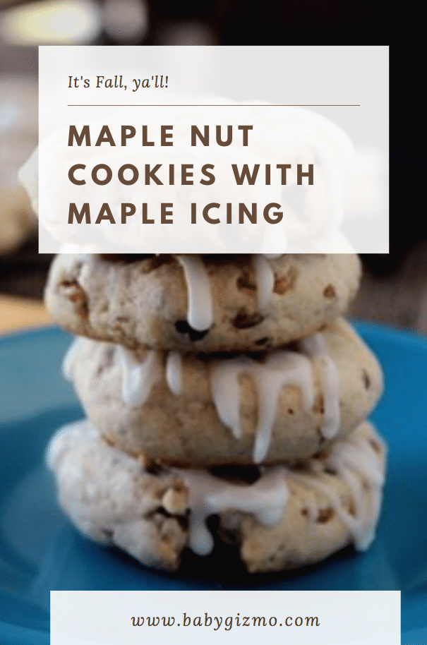 Maple Nut Cookies with Maple Icing