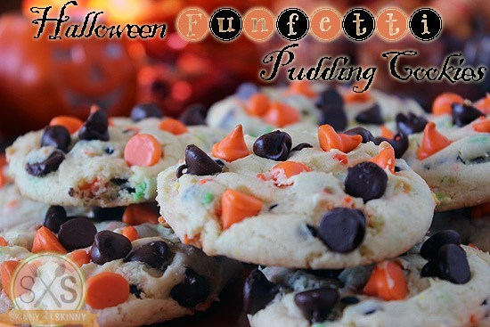 Halloween Funfetti Pudding Cookies