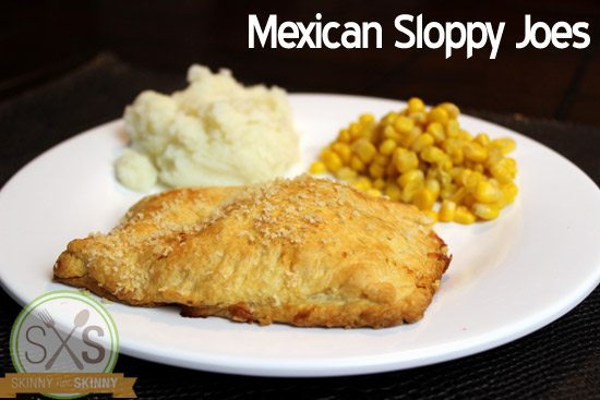 sloppy joes with potatoes and corn