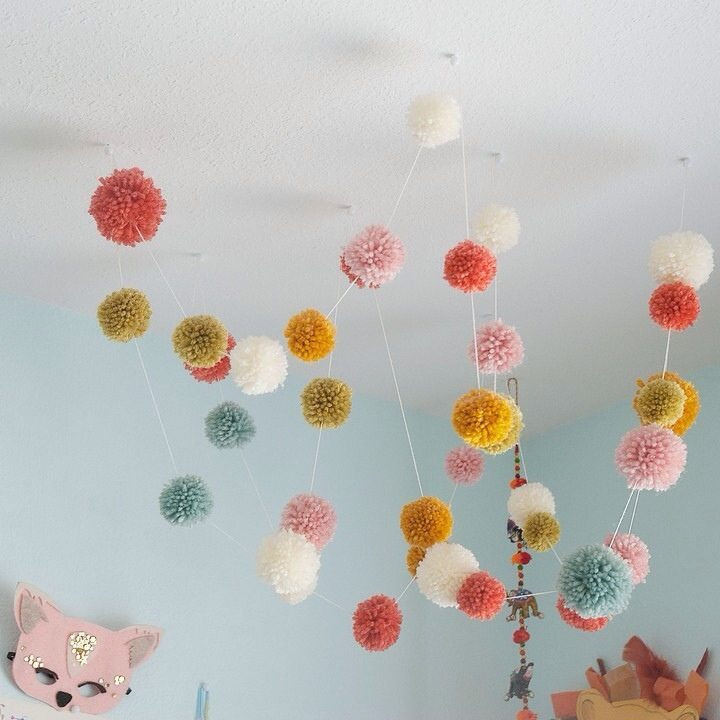 garland from ceiling