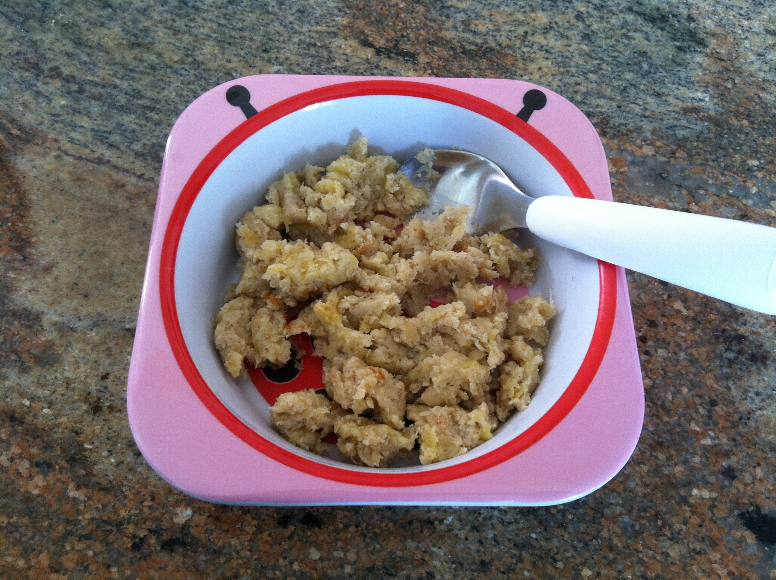 paleo banana scramble in bowl