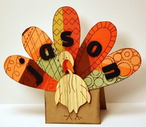 paper turkeys - thanksgiving place cards