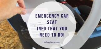 Car Seat Emergency Info